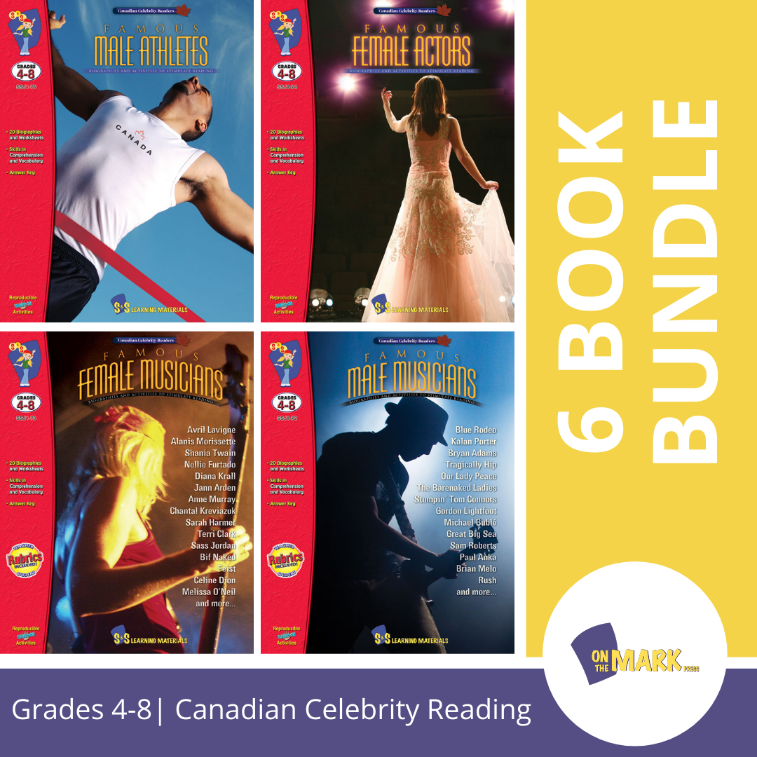 Canadian Celebrity Readers - 6 Book Bundle! Grades 4-8