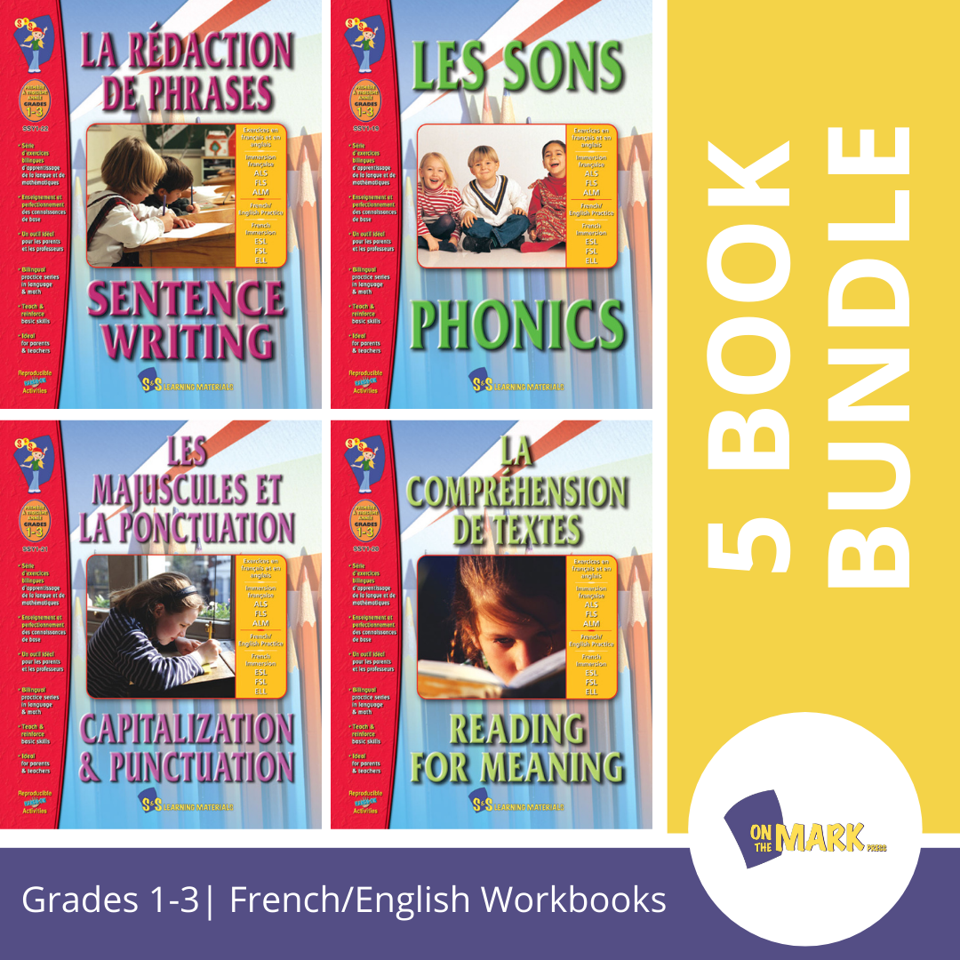 French/English Language Arts: 5 Book Bundle Grades 1-3