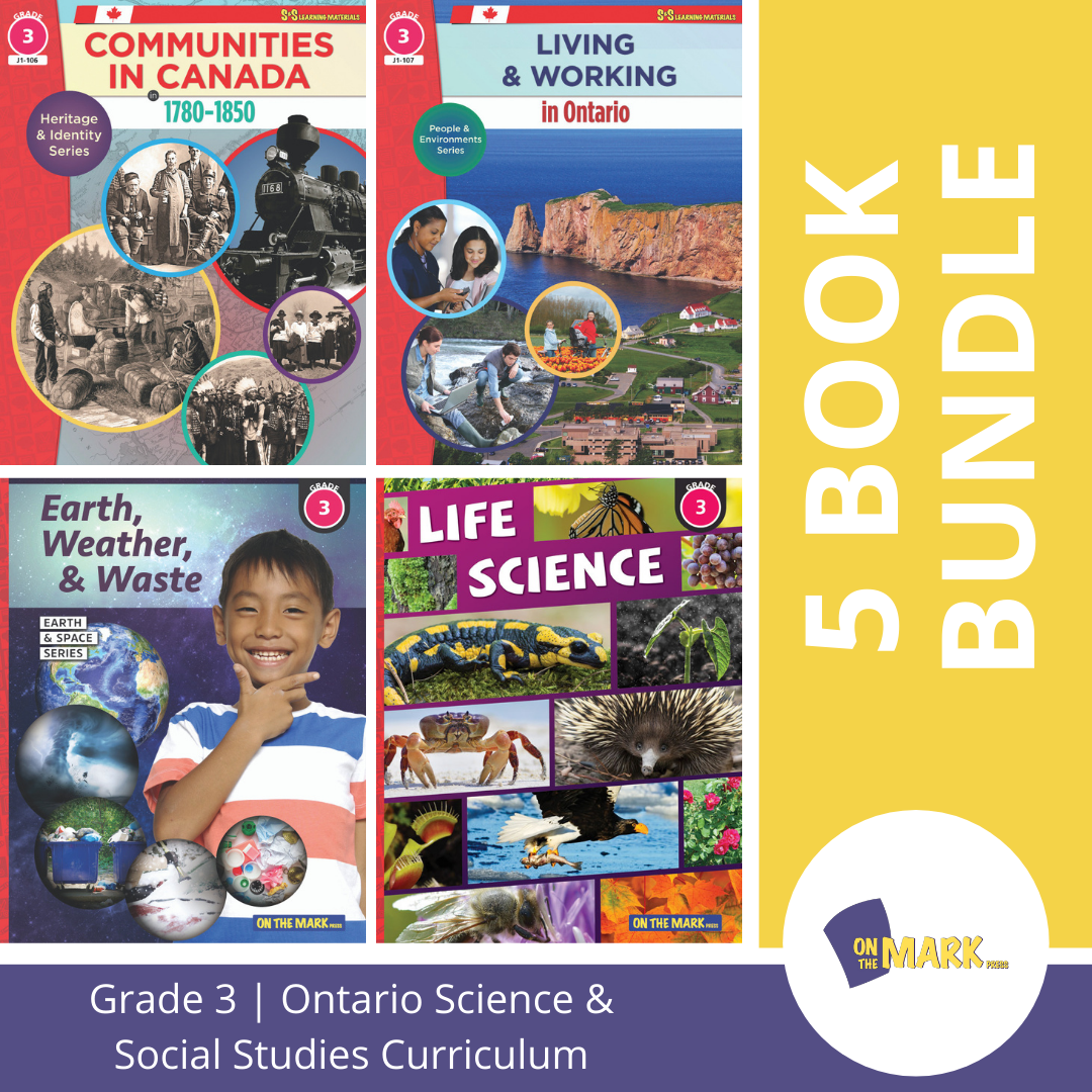 Ontario Grade 3 Science & Social Studies 5 Book Bundle!