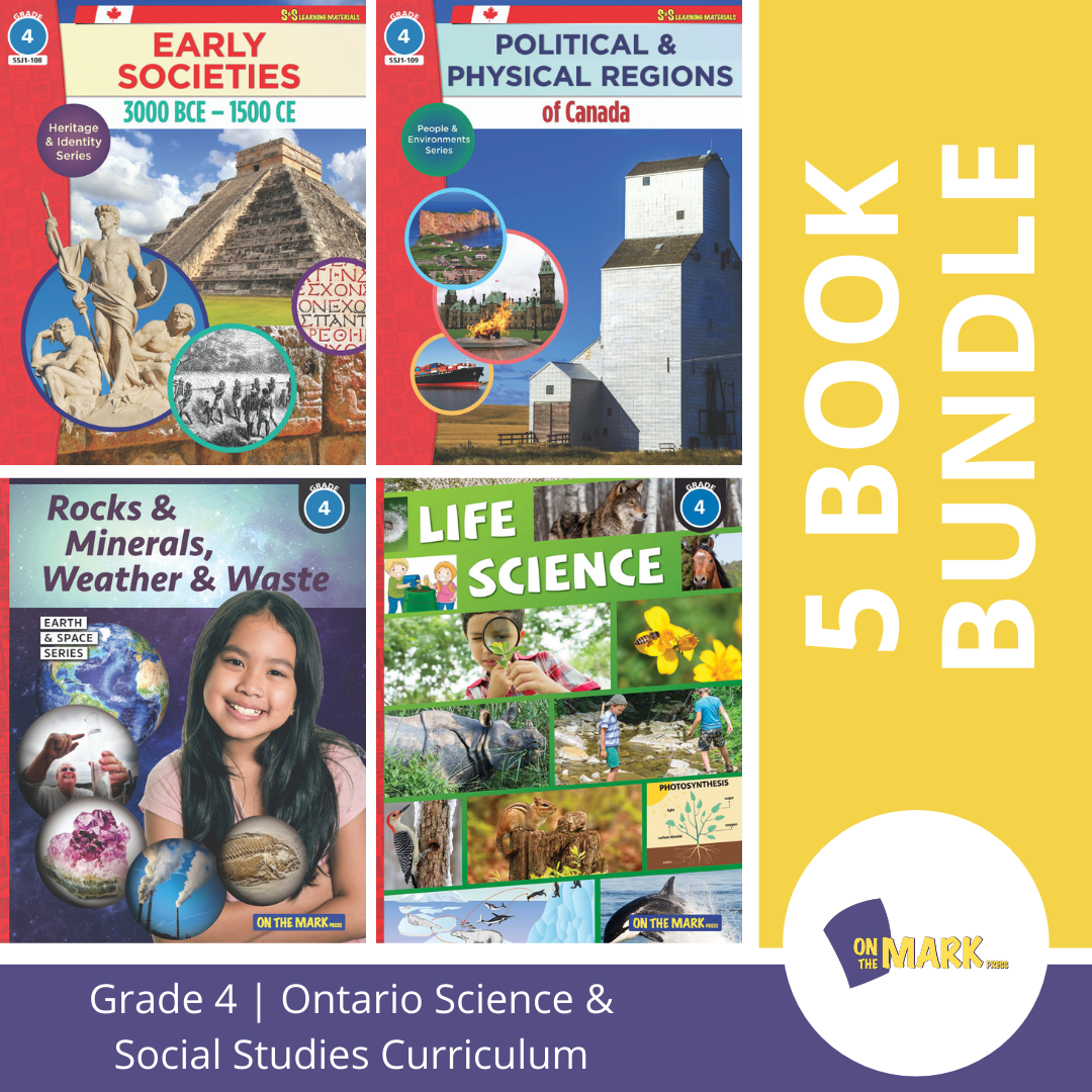 Ontario Grade 4 Science & Social Studies 5 Book Bundle!