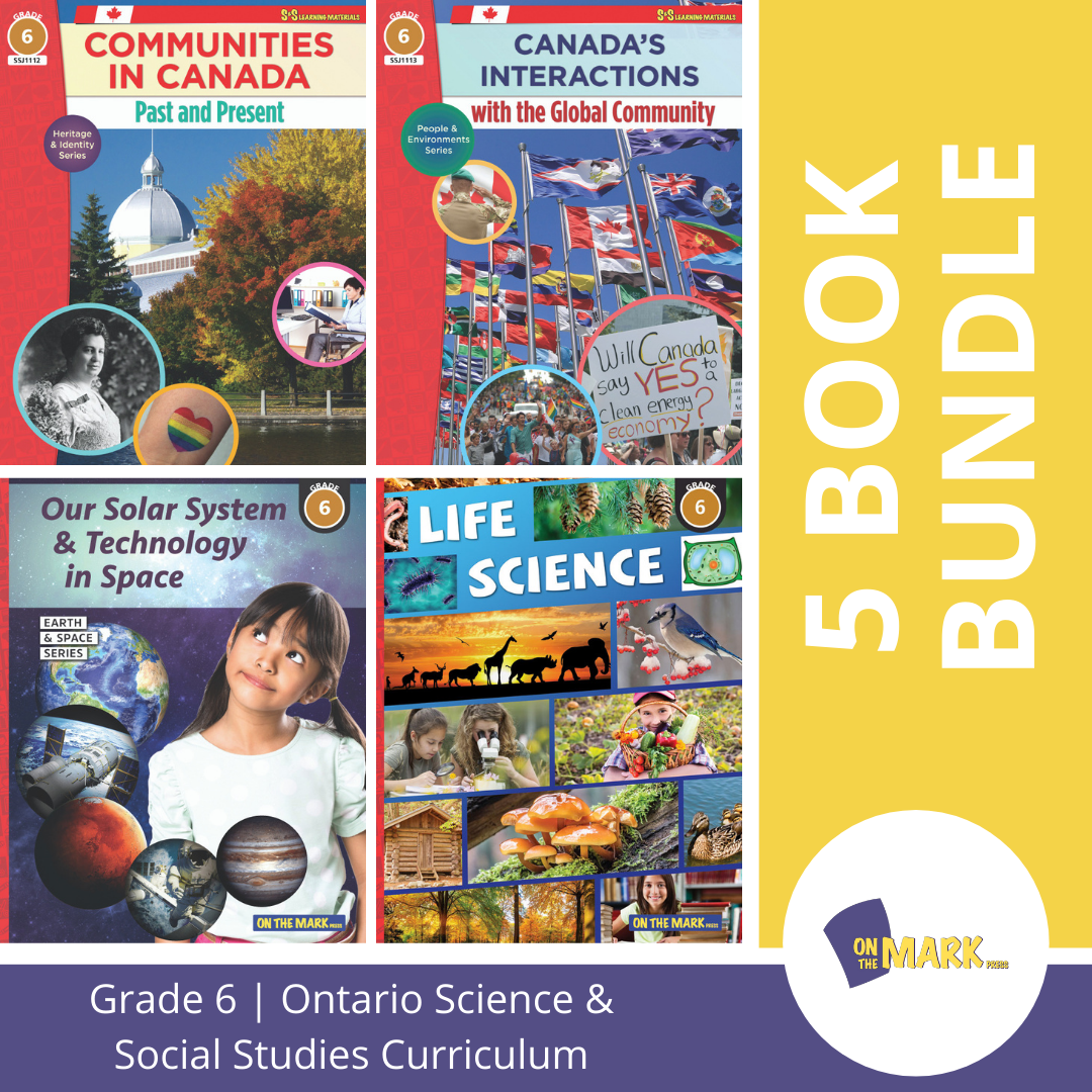 Ontario Grade 6 Science & Social Studies 5 Book Bundle!