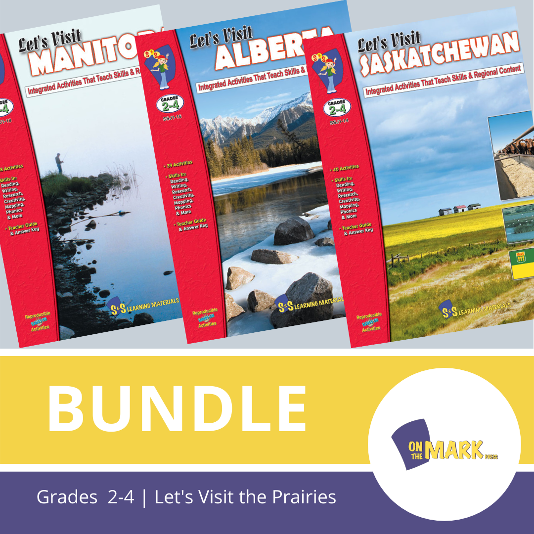 Let's Visit The Prairies A 3 Book Bundle Grades 2-4