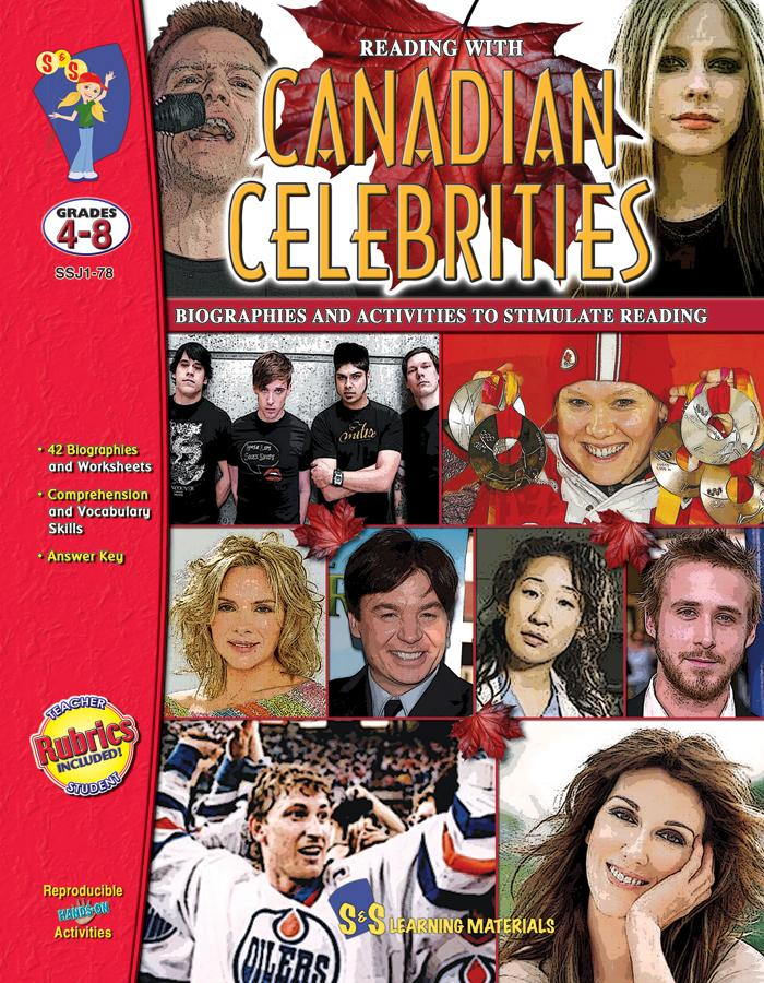 Reading with Canadian Celebrities Grades 4-8