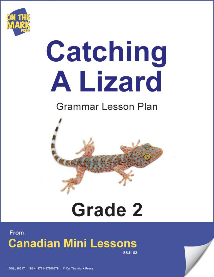 Cathing a Lizzard Writing & Grammar Lesson Gr. 2 E-Lesson Plan