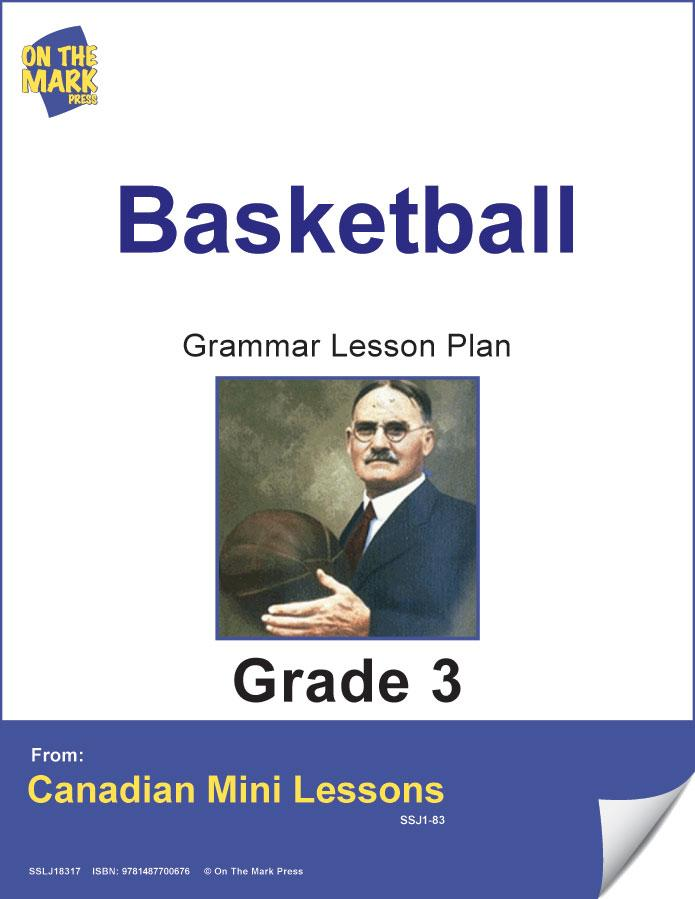 Basketball Writing & Grammar Lesson Grade 3 E-Lesson Plan