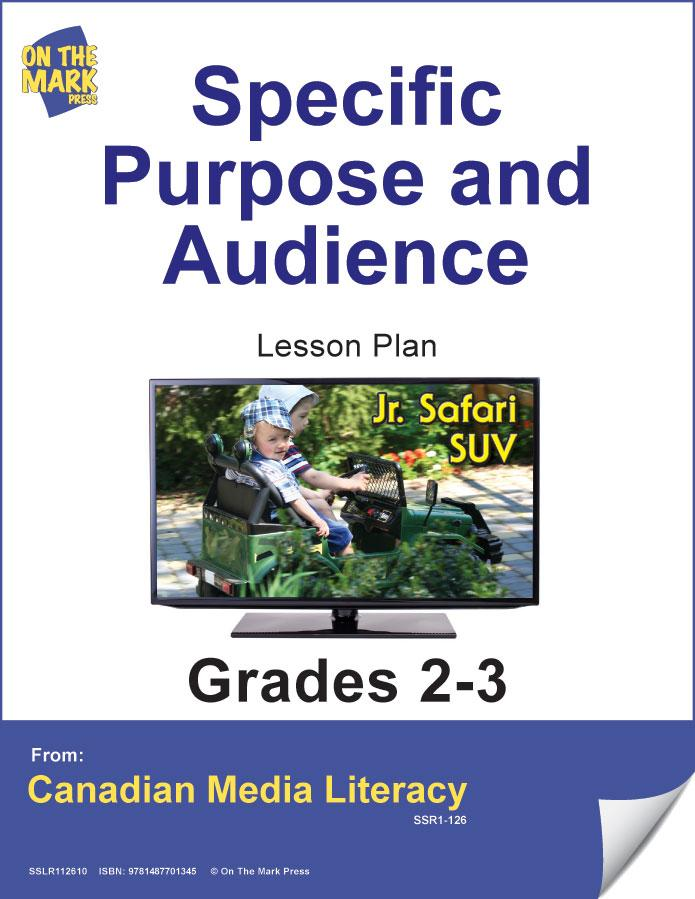 Specific Purpose & Audience Gr. 2-3 E-Lesson Plan