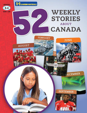 52 Weekly Stories About Canada Grades 3-4