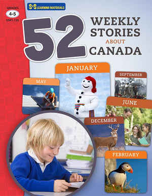 52 Weekly Stories About Canada Grades 4-5