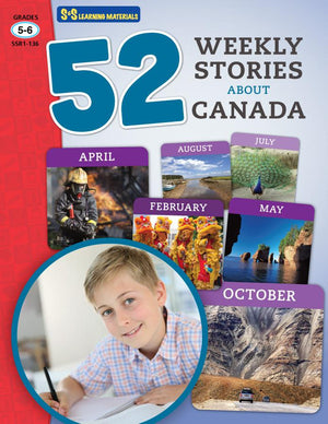 52 Weekly Stories About Canada Grades 5-6
