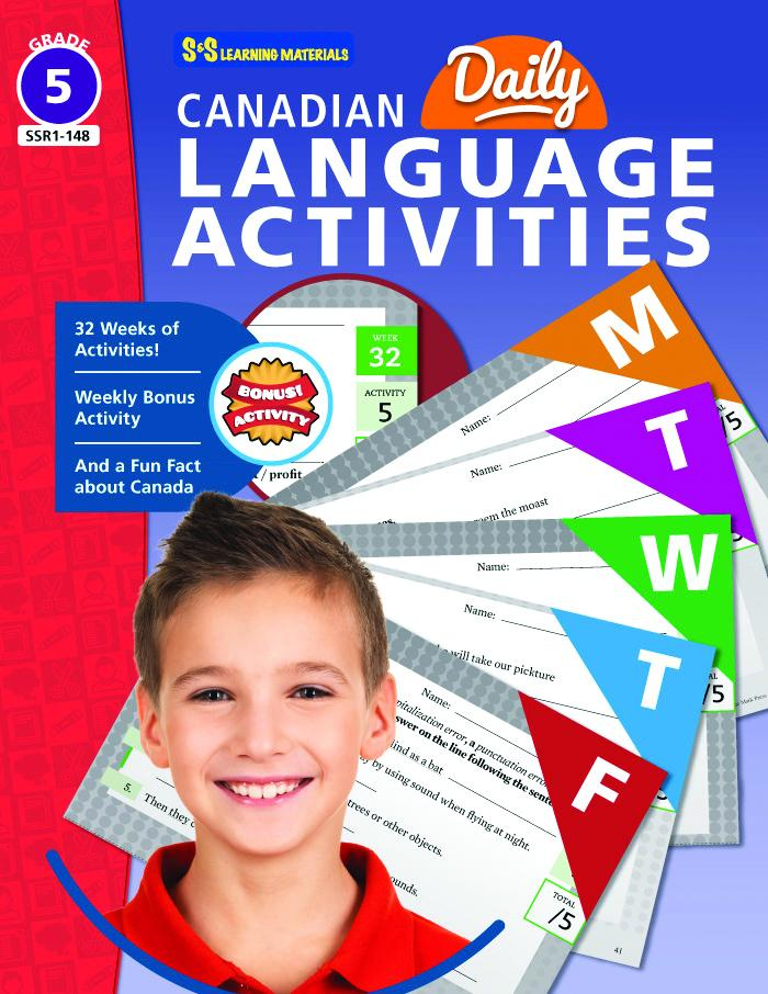 Canadian Daily Language Activities Grade 5