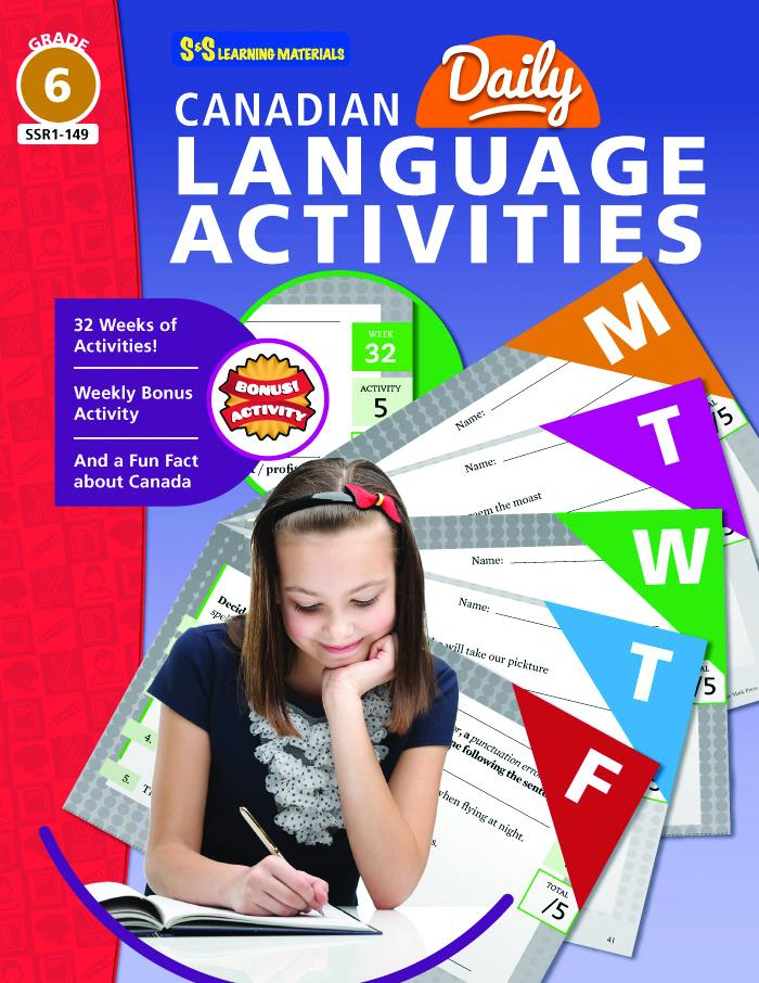 Canadian Daily Language Activities Grade 6