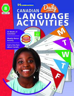 Canadian Daily Language Activities Grade 8