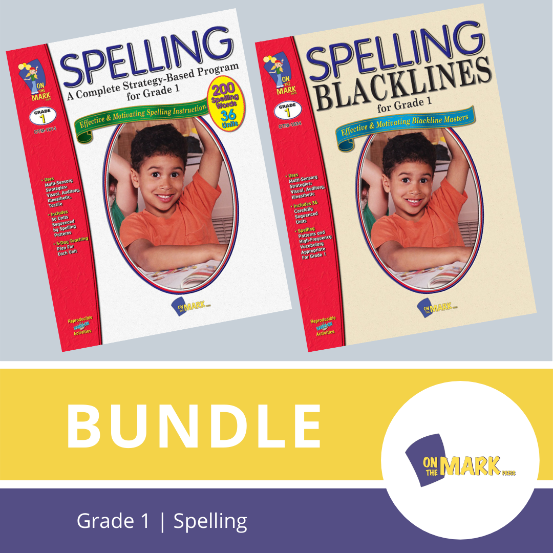 Spelling Grade 1 Program & Blacklines Bundle! * 36 Weeks of Content!