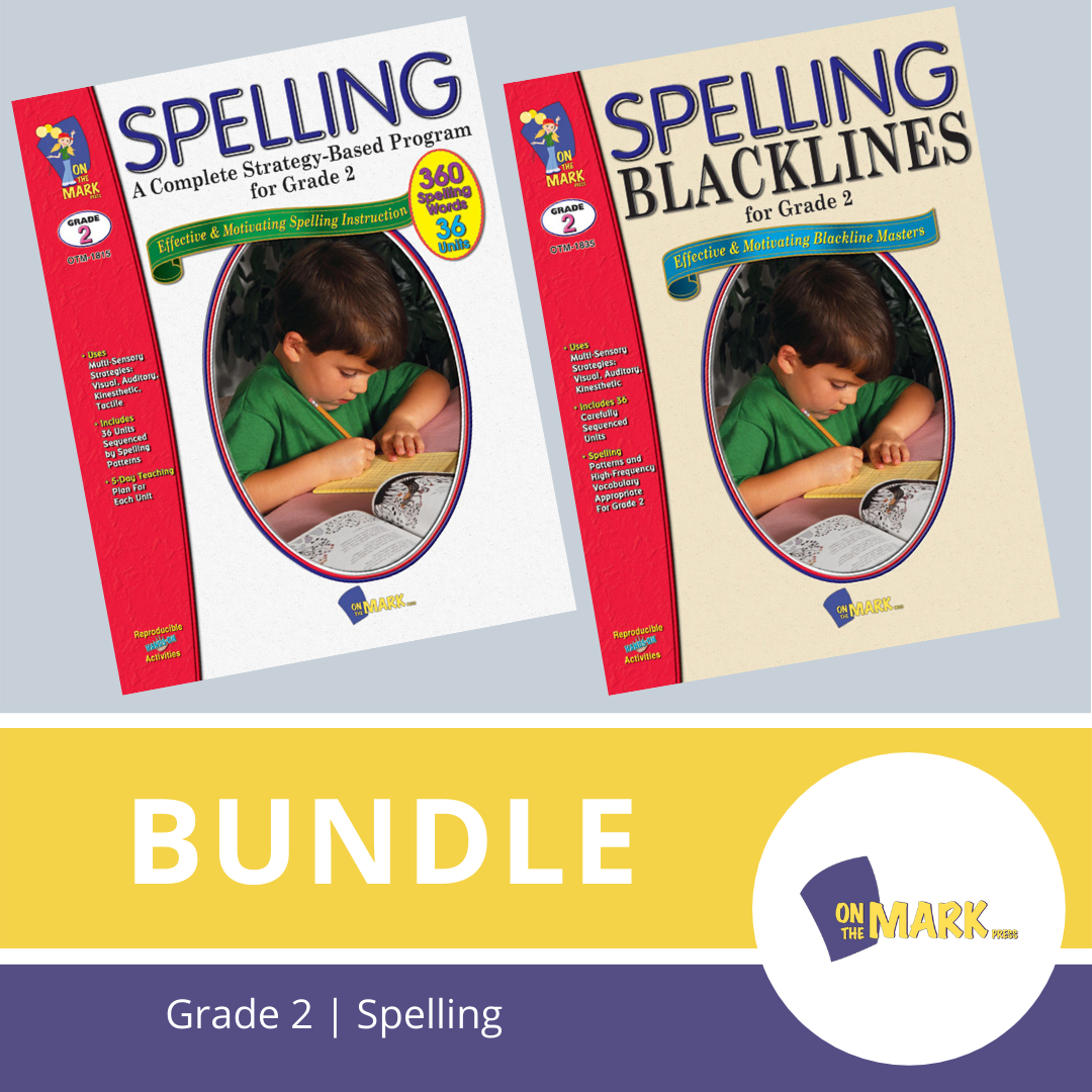 Spelling Grade 2 Program & Blacklines Bundle! * 36 Weeks of Content!