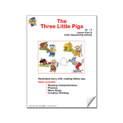 The Three Little Pigs & Color Sequencing Activity Gr. 1-3