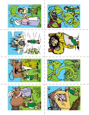 Jack & the Beanstalk Lesson Plan and Color Sequencing Activity