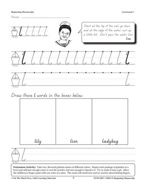 Modern Manuscript Beginning Workbook Grades PreK-2