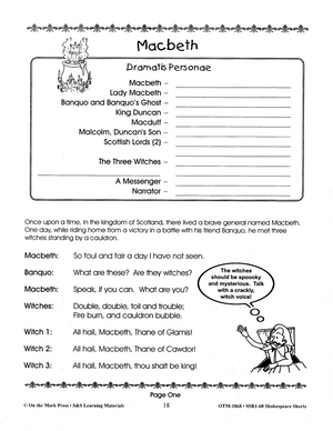 Shakespeare Shorts - Readers Theater Grades 2-4