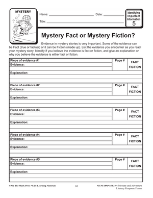 Mystery & Adventure: Identifying Important Information Grades 4-6