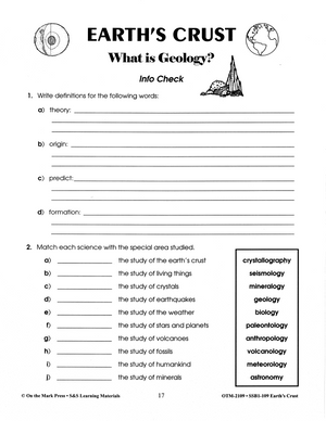 What is Geology? Lesson Grades 6-8