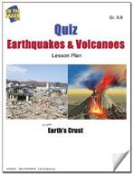 Quiz Earthquakes and Volcanoes Lesson Grades 6-8