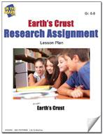 Earth's Crust Research Assignment Grades 6-8