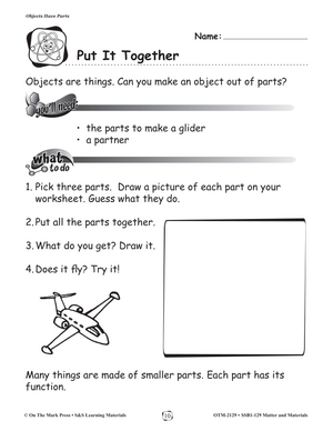 Objects Have Parts Gr. 1-3 (eLesson Plan)