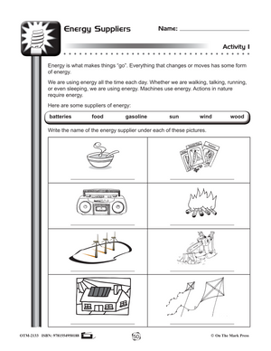 Conservation of Energy Gr. 4-6 (e-lesson plan)