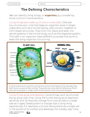 Life Science: Cells, Tissues & Systems Grade 8