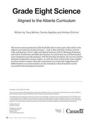 Alberta Grade 8 Science Curriculum
