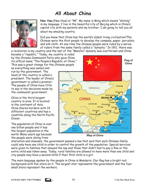 Families in China Lesson Plan Grades 4-6