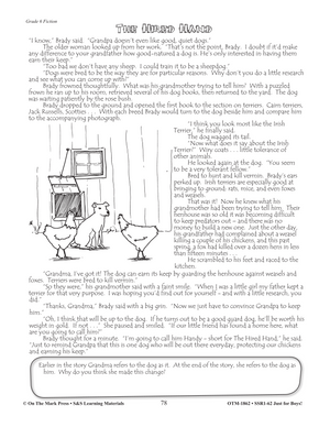 Reading Comprehension Activities For Boys: Fiction Grade 6