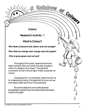 A Rainbow of Colours Grade 4-6 book