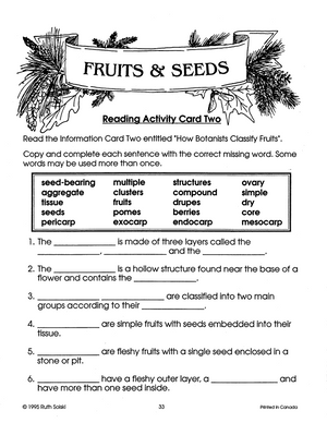 Fruits and Seeds Grades 4-6