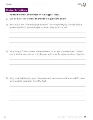 Government: Rights, Responsibilities & History Grade 6 Alberta Curriculum