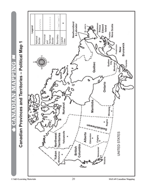 Canadian Mapping Skills: Extending Knowledge Grades 5-6