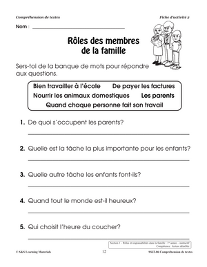 Comprehension de Textes 1-2