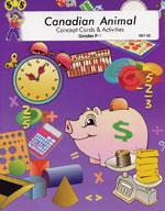 Canadian Animal Math Concept Cards & Activities Grades 1-3