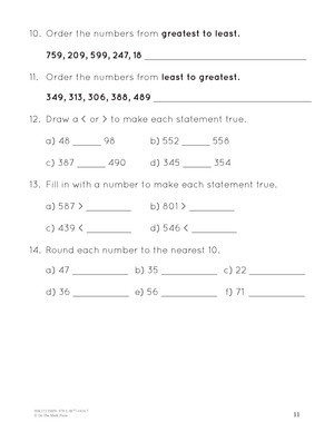A Year of Grade 3 Math Assessments