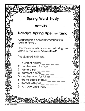 A Spring Celebration: Explore the world of spring! Grades 2-3