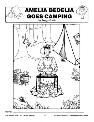 Amelia Bedelia Goes Camping: Novel Study Guide Gr. 1-3