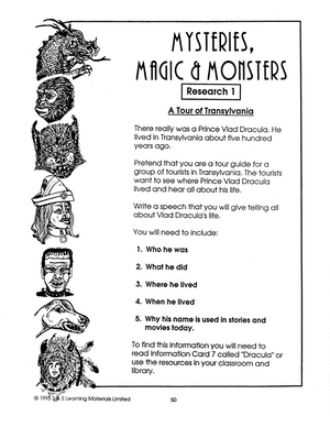 Mysteries, Monsters & Magic Gr. 7-8