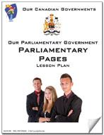 Canadian Government Lesson: Parliamentary Pages Grades 5+
