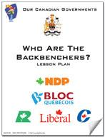 Canadian Government Lesson: Who are the Backbenchers? Grades 5+