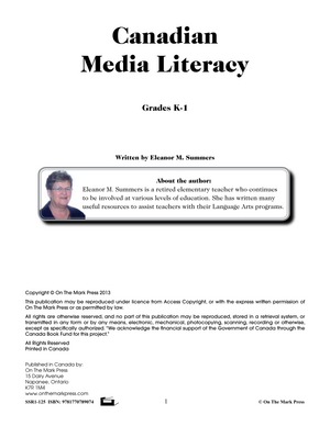 Canadian Media Literacy Grades Kindergarten to 1