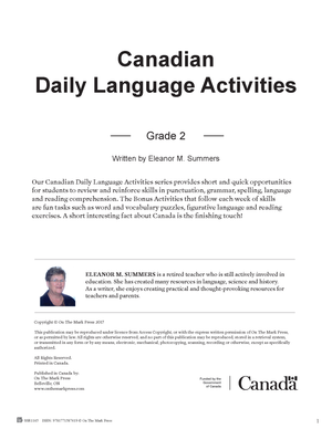 Canadian Daily Language Activities Grade 2