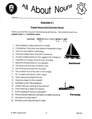 All About Nouns Grades 5-7 Ebook