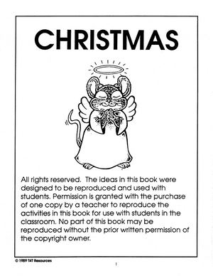 Christmas - An Integrated Theme Unit Grades Jk-Sk