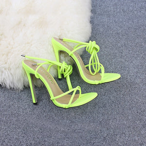 2020 Super High 11.5CM Thin Heels Women Pumps Ankle Cross Strap Sandals Shoes Woman Ladies Pointed Toe High Heels Dress Party Shoes
