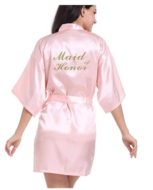 2020 New Bridesmaid Robes Robes Bridal Robes Light Pink Satin Robe Bridesmaid Robes Wedding